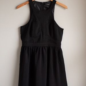 NWT Black Sheer Cut Out Formal Dress Size L